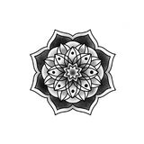 Красивая мандала цветка Стоковое фото RF