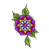 Красивая мандала цветка Стоковая Фотография