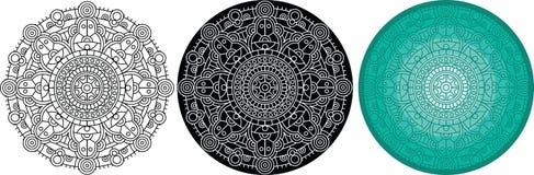 Красивая мандала для книжка-раскраски Черный, белый, картина цвета круглая иллюстрация штока