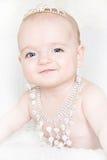 Красивая маленькая девочка с jewellery Стоковое Фото
