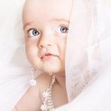 Красивая маленькая девочка с jewellery Стоковые Фото
