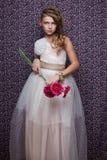 красивая маленькая модельная девушка стоковые изображения rf
