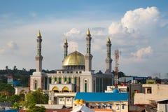 Красивая мечеть в Борнео Индонезии Стоковые Изображения RF