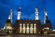 Красивая мечеть в Борнео Индонезии Стоковая Фотография
