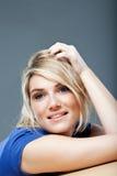 Красивая мечтательная женщина Стоковая Фотография