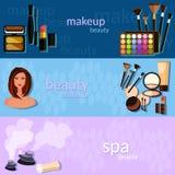 Красивая милая женщина в макияже! иллюстрация вектора