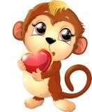 Красивая милая обезьяна Стоковое Фото
