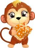 Красивая милая обезьяна Стоковое Изображение