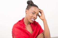 Красивая молодая женщина с свежей и чистой кожей стоковое фото