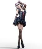 Красивая молодая женщина goth Стоковые Фотографии RF
