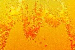 Красивая морозная естественная картина на стекле окна Стоковые Изображения