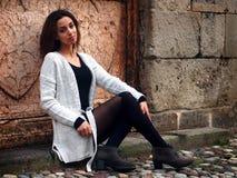 Красивая морокканская девушка в Падуе Стоковые Изображения RF