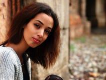 Красивая морокканская девушка в Падуе Стоковое Фото