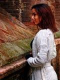 Красивая морокканская девушка в Падуе Стоковые Фото