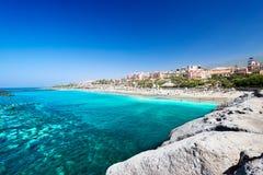 Красивая морская вода тропического пляжа El Duque Стоковые Изображения RF