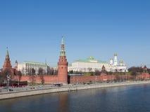 Красивая Москва Кремль Стоковая Фотография