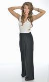 Красивая молодая бизнес-леди в костюме брюк Стоковое Изображение