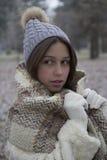 Красивая молодая женщина в парке Стоковое Фото