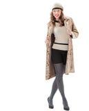 Красивая молодая женщина в пальто Стоковая Фотография