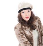 Красивая молодая женщина в пальто Стоковое Фото