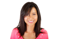 Красивая молодая женщина в портрете вскользь одежд. Стоковое фото RF