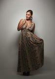 Красивая молодая женщина в платье вечера Стоковые Изображения RF