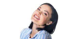 Красивая молодая женщина делая выражение лица Стоковая Фотография