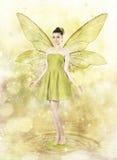 Красивая молодая женщина как фе весны стоковое изображение rf