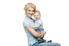 Красивая молодая женщина с малышом Стоковые Изображения