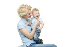 Красивая молодая женщина с малышом Стоковое Изображение RF
