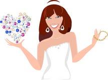 Красивая молодая женщина с ювелирными изделиями Стоковое Фото