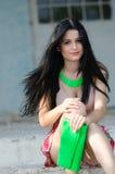 Красивая молодая женщина элегантности Стоковое фото RF