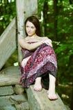 Красивая молодая женщина Стоковое Изображение