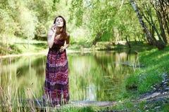 Красивая молодая женщина Стоковое Фото