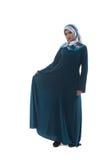 Красивая молодая мусульманская женщина с улыбкой Стоковое фото RF