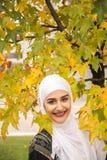 Красивая мусульманская женщина с hijab Стоковое Изображение