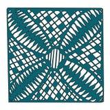 Красивая нарисованная вручную мандала eps10 Стоковое Фото