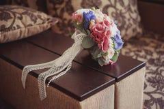 Красивая невеста букета свадьбы Стоковое фото RF