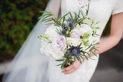 Красивая невеста букета свадьбы Стоковые Фото