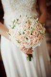 Красивая невеста букета свадьбы Стоковые Изображения RF