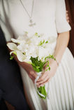 Красивая невеста букета свадьбы Стоковая Фотография