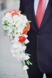 Красивая невеста букета свадьбы Стоковые Изображения