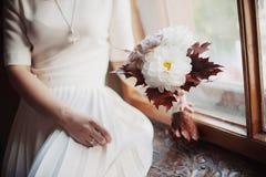 Красивая невеста букета свадьбы Стоковое Изображение RF