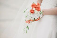 Красивая невеста букета свадьбы Стоковая Фотография RF
