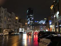 Красивая ночь в Dnieper стоковые изображения