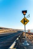 Красивая дорога близко Рекой Колумбия в сезоне зимы, WA Стоковые Изображения RF
