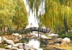 Красивая осень в городе Xian, Китай Стоковые Изображения RF