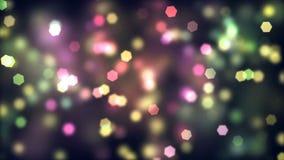 Красивая ослабляя красочная предпосылка ночи шестиугольников видеоматериал