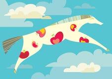 Красивая лошадь с яблоками бесплатная иллюстрация
