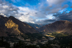 Красивая долина Пакистан Hunza стоковое фото rf